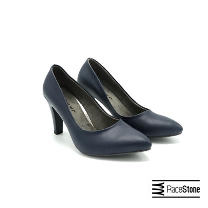 Picture of Women's leather leather shoes, dark blue