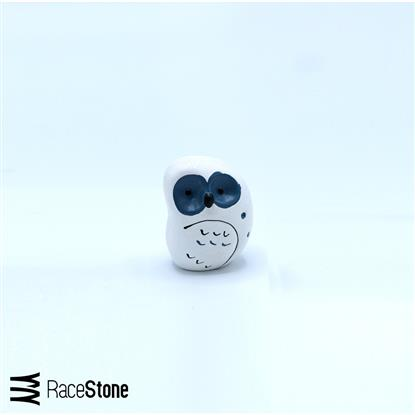 Picture of Owl design ceramic sculpture, white